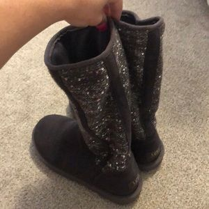 UGG grey with silver sequin Cardy boots